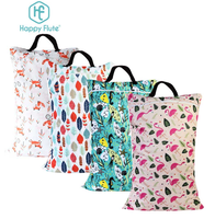 Happy flute 1 pcs Large Hanging Wet/Dry Pail Bag for Cloth Diaper,Inserts,Nappy, Laundry With Two Zi