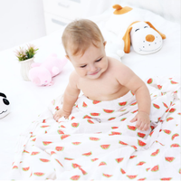 Happy Flute Summer 100% Muslin bamboofiber baby towel newborn blanket baby swaddle infant wrap 120x1