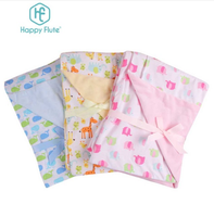Happy Flute1pcs 76*100cm flannel and cotton baby blanket Super Soft kid sleep cartoon infant blanket